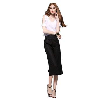 Bộ áo và quần culottes Zahra HR727 (Trắng Đen)
