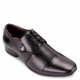 Giày tây da thật cột dây công sở SunPoLo S224D (Đen)