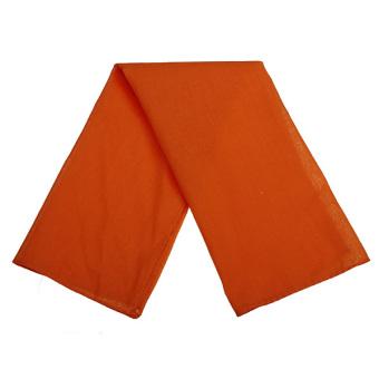 Fancy Plain Bandana 100% Cotton Head Neck Wrist Wrap Neckerchief Scarf orange - Intl