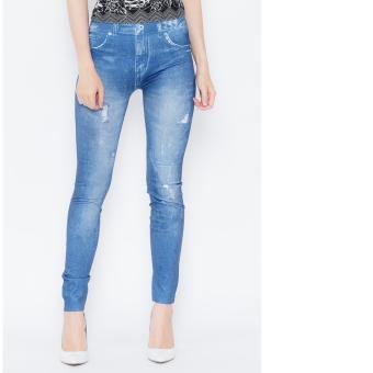 Quần Legging giả jeans TITISHOPVN QDN15 (XANH)