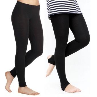 Bộ 2 quần tất nữ legging giẫm gót SoYoung 2WM LEGGING 003 B 004 B (Đen)