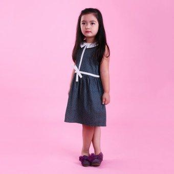 Đầm bé gái Ugether UKID37 (Xanh jeans họa tiết)