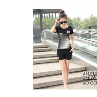 Bộ quần áo thể thao nữ Sodoha sporst SPT3355B Màu Đen