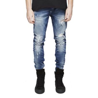 Fashion Mens Straight Slim Jeans - intl