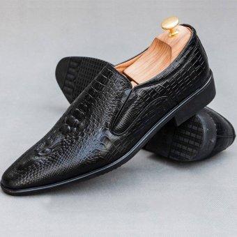 Giày Lười Công Sở Vân Cá Sấu GL69 (Đen) cung cấp bởi THỜI TRANG DA