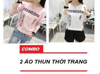Bộ 2 Áo Thun Nữ Hiswebnh D111-112 Trần Doanh