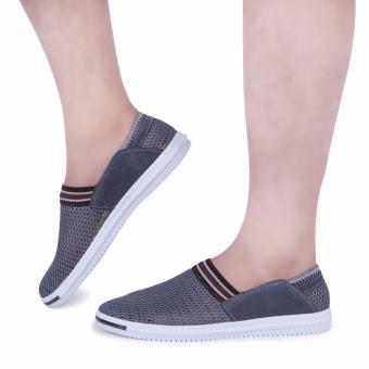 Male Patchwork Elastic Band Mesh Breathable Casual Shoes - intl