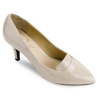 Giày cao gót bít mũi Sarisiu XT755 (Kem)