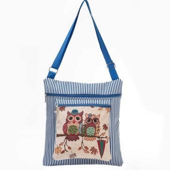 Owl Printed Women Casual Tote Daily Use Shopping Bag Single Shoulder Handbag BU - intl