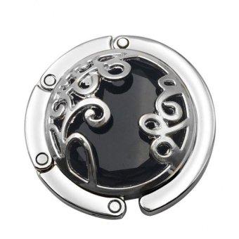 BolehDeals Metal Crystal Portable Folding Heart Design Handbag Purse Hanger Hook #5 - intl