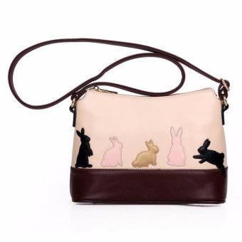 Women Cat Rabbit Leather Shoulder Bag Cross Body Purse Handbag Messenger - intl