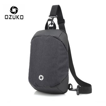 OZUKO Unisex Chest Pack Messenger Bag Creative Anti-theft Bag Oxford Shoulder Bag Casual Fashion Crossbody Bags (Deep Grey) - intl