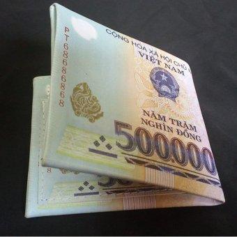 Ví da nam hình tiền 500k độc đáo