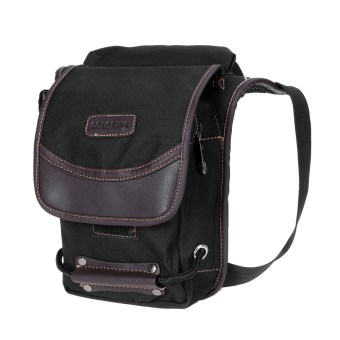 anvas Drop Waist Leg Bag Waist Pack Male Belt Bicycle and Motorcycle Pack - intl