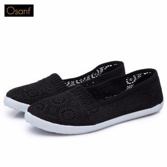 Giày Lười Nữ Xinh Xắn OSANT - GL001 (Đen)