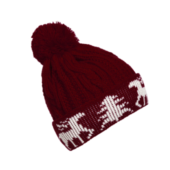New Winter Warm Unisex Women Men Knit Ski Crochet Cap Beanie Hat Red (Intl)