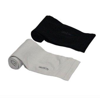 Bộ 2 đôi găng tay chống nắng xỏ ngón Aqua-X Let's Slim (Đen - Xám)
