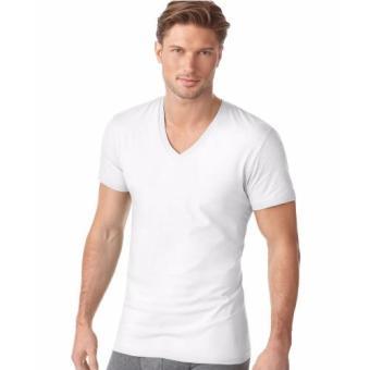Áo lót nam IMVMAN Tshirt cổ tim cotton cao cấp (Trắng)