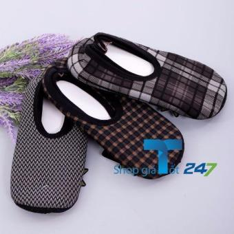 Bộ 04 đôi giày hài nỉ chống trơn trượt cho nam GT247