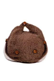 Lovely Winter Warm Baby Beanie Hat Earmuff Hat Warm Ear Cap Hat with Buttons Coffee with Beige Size - Intl