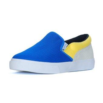 Giày Lười Slip-on QuickFree Lightly da bò Suede Nam M160101-111 (Xanh/Trắng/Vàng)