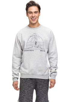 Bellfield Men's Resort Print Sweater Grey
