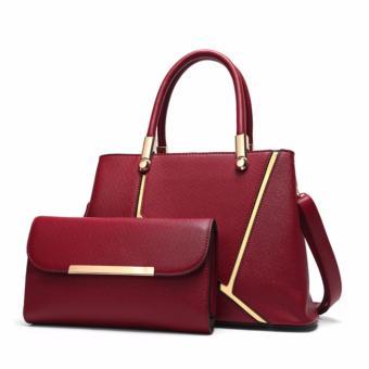Combo túi xách nữ DANTE cao cấp DAT023 (Đỏ đô) - 3868498