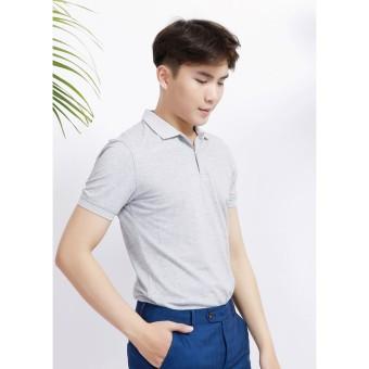 Áo phông Polo trơn màu ghi sáng