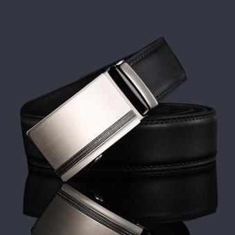 Thắt lưng nam da bò thật Flancoo 9931 (Khóa bạc)
