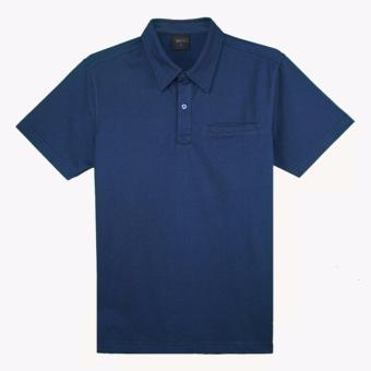 Áo thun polo Milvus màu xanh lam