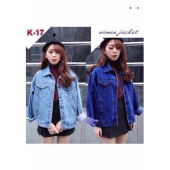 Áo khoác jean nữ thời trang LyLyFashion (xanh đậm)