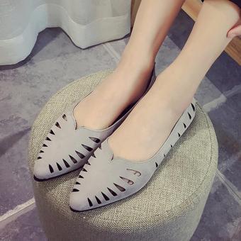 Giày búp bê mũi nhọn đế êm thời trang Bpmdo- BGL106 ( xám)