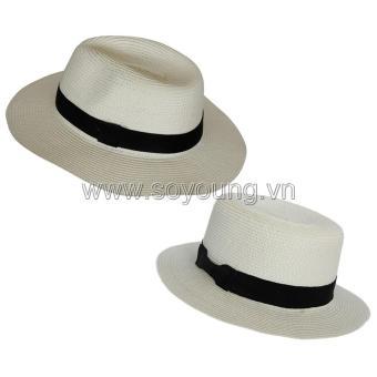 Bộ 2 Mũ Cói Đi Biển Nam Nữ SoYoung SYCB HAT 043 CR PS WM HAT 044 W