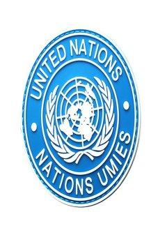HKS International U.N UN United Nations Genuine Shoulder Patch Badge Blue - intl