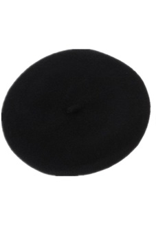 Lalang Girl Kids Baby Warm Wool Beret Beanie Hat Cap Winter (Black)