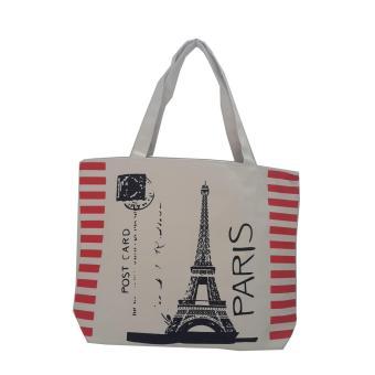 Túi Vải Tote Họa Tiết Paris Post Cast Xinh Store
