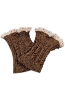 Lalang Knitted Leg Warmers Khaki - Intl