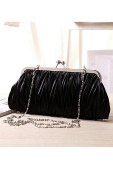 Brilliant Small Purse Hasp Wallets Mini Evening Bag (Black)