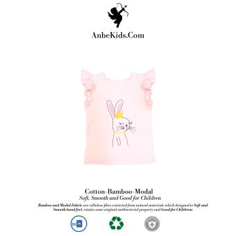 Baby Pink Crowned Rabbit Top 2y