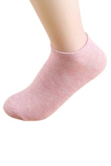 Bluelans Lady 1 Pair Ankle Socks Short Low Cut Crew Casual Sport Boat Socks Pink (Intl)