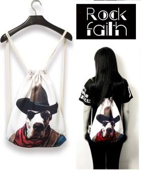 ZAFUL Women's drawstring backpack printing travel softback tote bag backpack bag 4# - intl