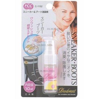 Bộ 2 chai xịt khử mùi hôi giày dép Fudo Chemical dung tích 10ml (Trắng)