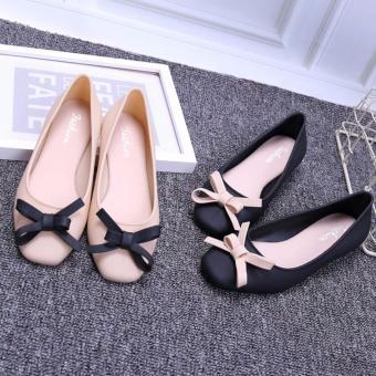 Giày búp bê nữ nơ xinh Fashion - GiayKS - BB002 (đen)