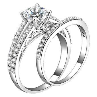 Cặp nhẫn kiểu kim cương nhân tạo Tiifany Jewelry BRI019