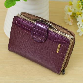 Fashion Women Lady Zipper Wallet Coin Bag Card Holder Purse Billfold Handbag HOT Purple - Intl