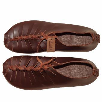 Giày nữ da thật handmade Galaxy Store GGNU01 (Nâu)