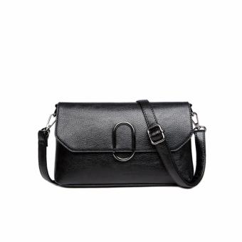 Túi xách nữ da thật phong cách sang trọng AIB060 (Đen) - 4288171