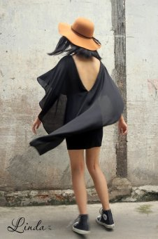 Đầm bodycon Xavia Clothes Linda (Đen)