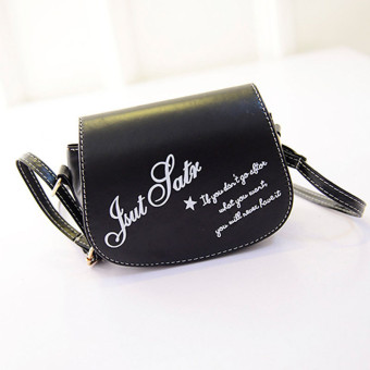 Retro Leather Mini Small Adjustable Shoulder Bag Handbag Letter packet Black - Intl