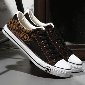 Giày sneaker nam thấp cổ ( đen )